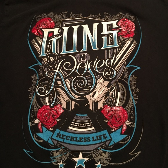 Tultex Tops - Guns N Roses  Reckless Life T Shirt Large